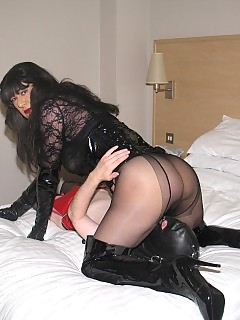 Yvette loves to get her dick sucked hard by a filthy gimp